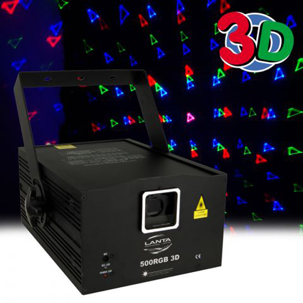 3 Colour laser RGB 3D