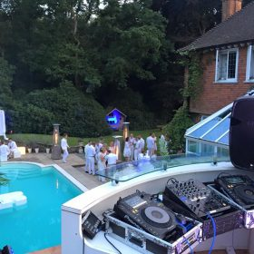 Pool party set up